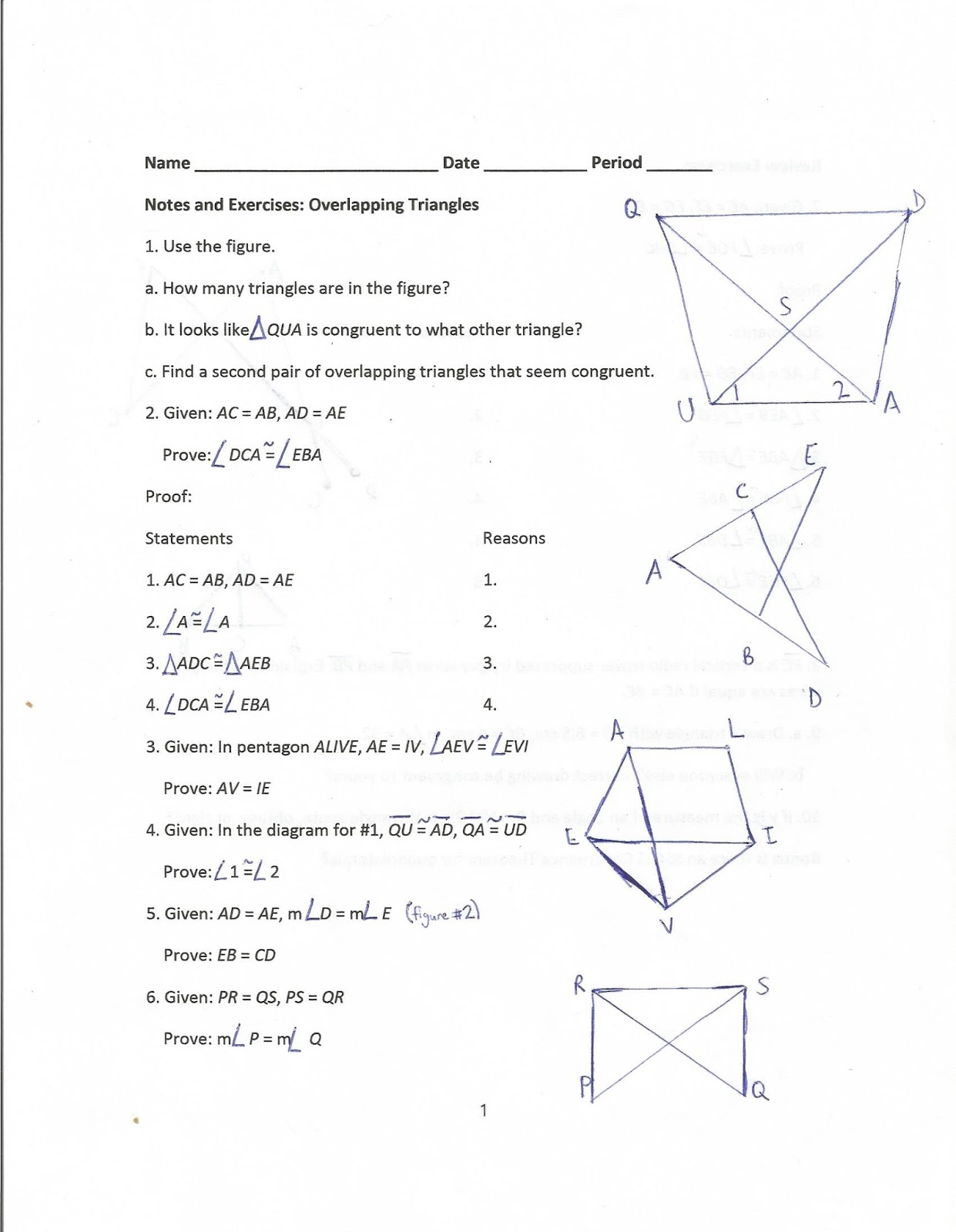 how to write out reasoning for not similar triangles