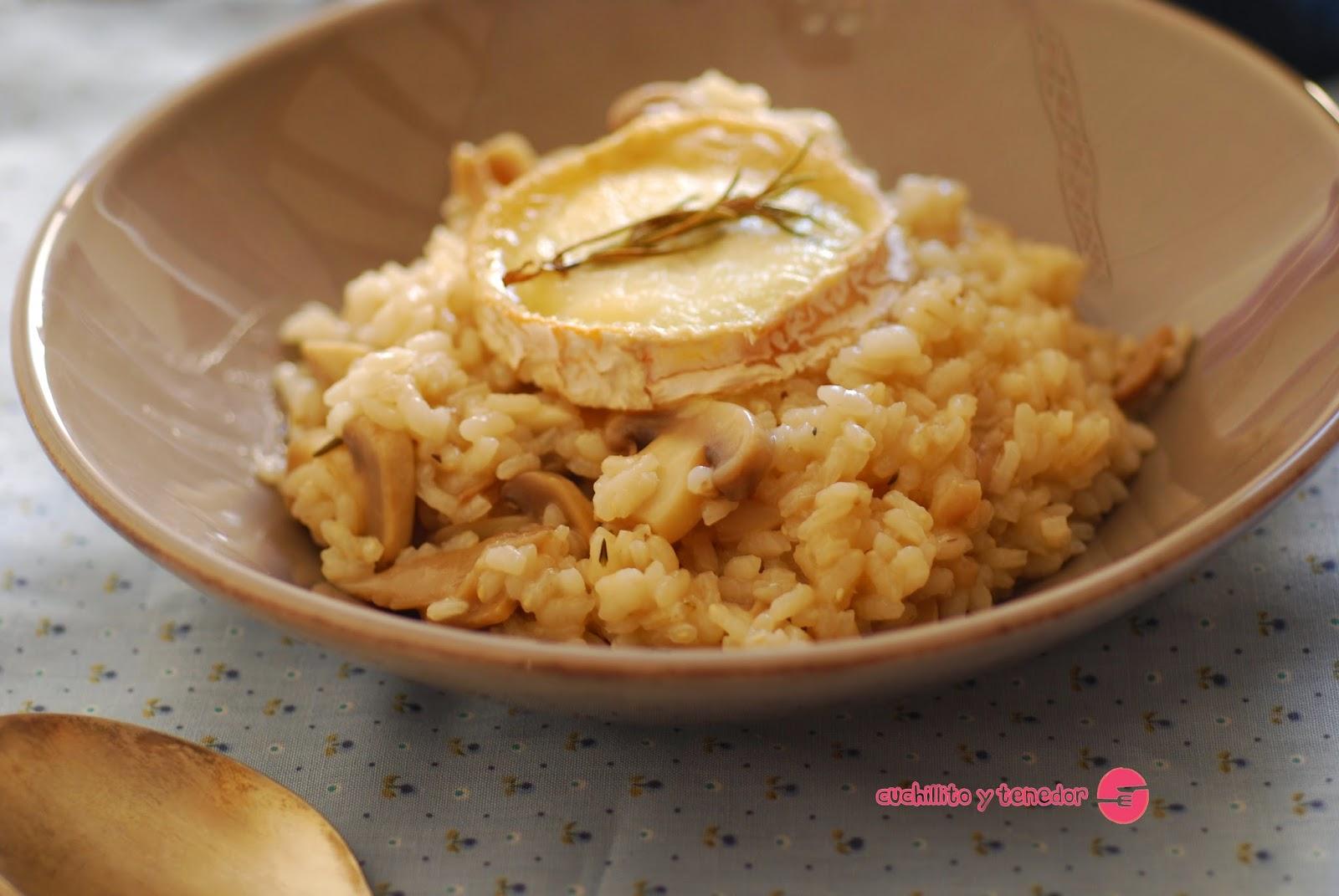 Risotto de setas con queso de cabra al romero - Queso de cabra y colesterol ...