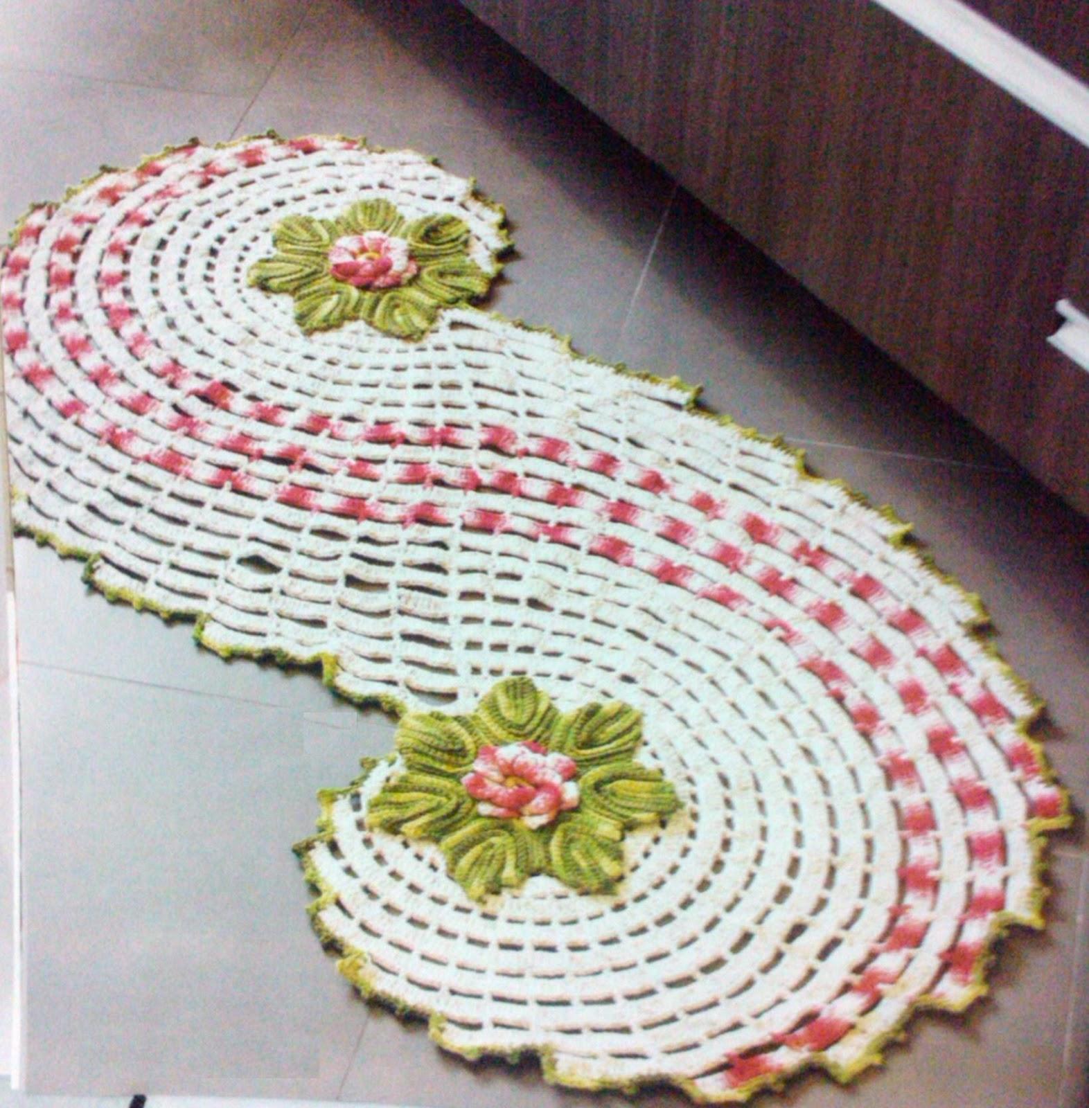 Kit Para Banheiro Artesanato ~ artesanatos em croche e madeira