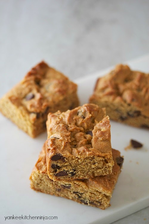 gluten-free chocolate peanut butter blondies