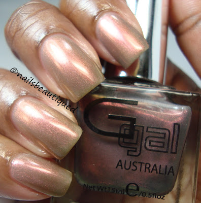 Glitter Gal Duochrome Buckled Bronze