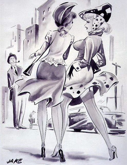 vintage pin up cartoon