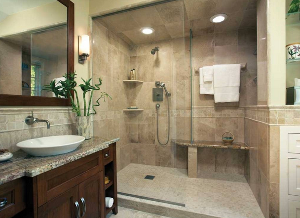 Examples small bathrooms design house tour for Bathroom remodel examples
