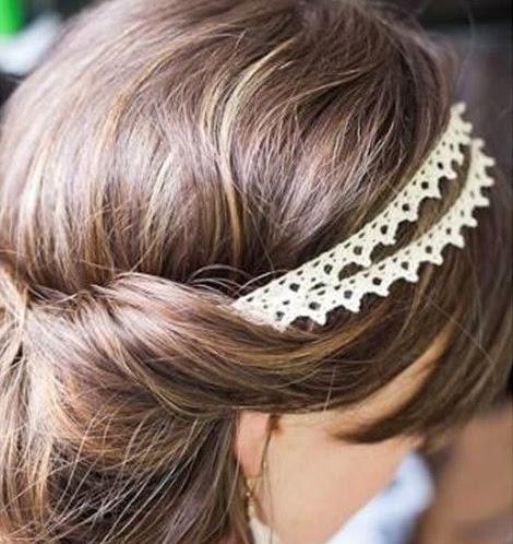 DIY banda doble para el pelo