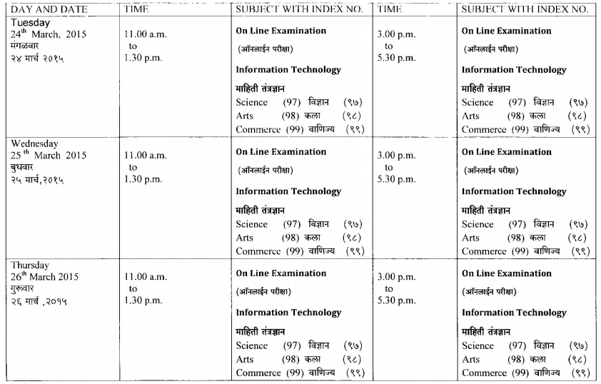 HSC Timetable Page 10