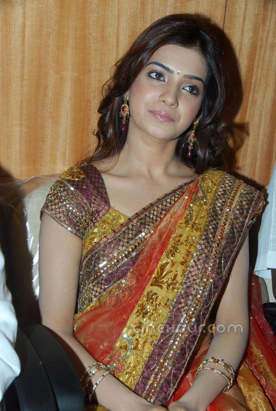 samantha in saree hd wallpapers for desktop.
