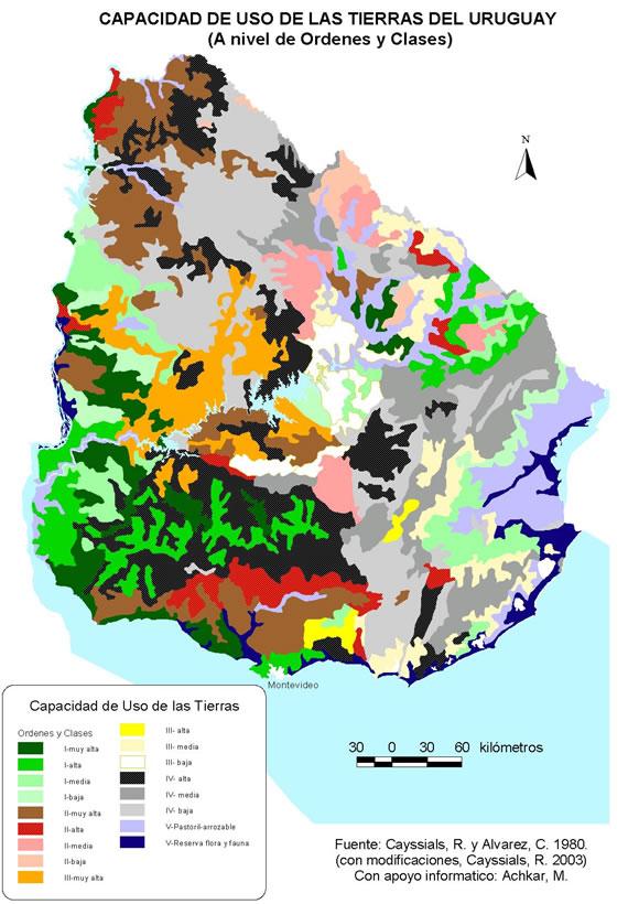 Suelos del uruguay en este mapa pueden visualizar como for Como esta constituido el suelo