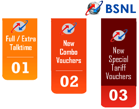 BSNL Prepaid New STVs and Extra Talktime for Mobile