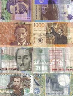 Equivalencia del peso colombiano