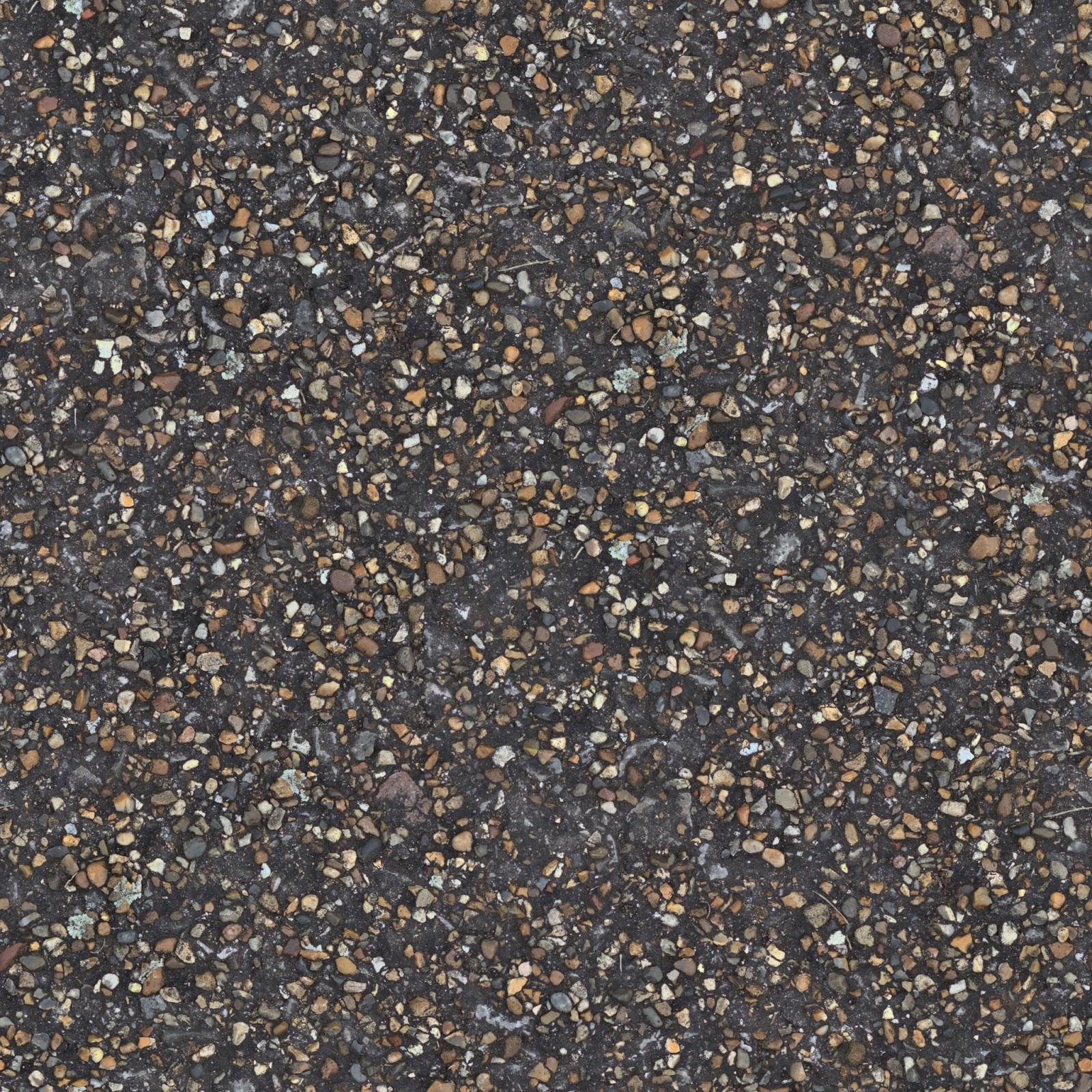 Concrete pebble stone walkway pathway seamless texture ver 1 2048x2048