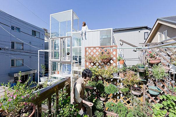 Ngôi nhà trong suốt đầy sáng tạo tại Nhật Bản