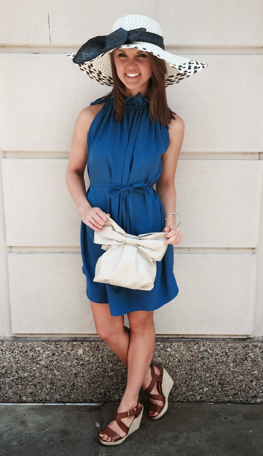 Chloe Blue Shift Dress  | Carolina Cup | blog.sassyshortcake.com