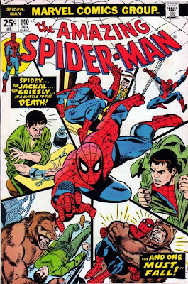 Amazing Spider-Man #140, the Jackal the Grizzly and Peter Parker has an explosive spy device attached to his arm
