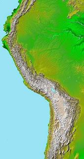 Localización de la cordillera de los Andes