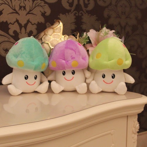 Jual boneka lucu berupa jamur