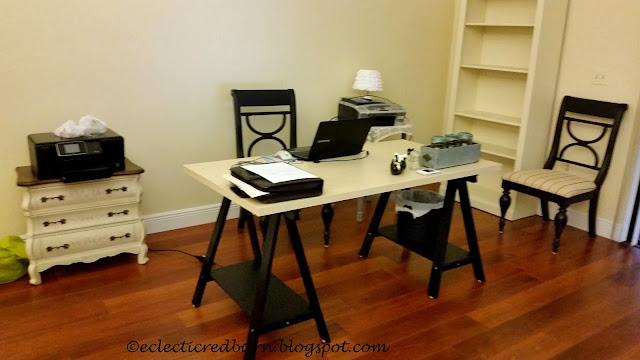 IKEA desk work area