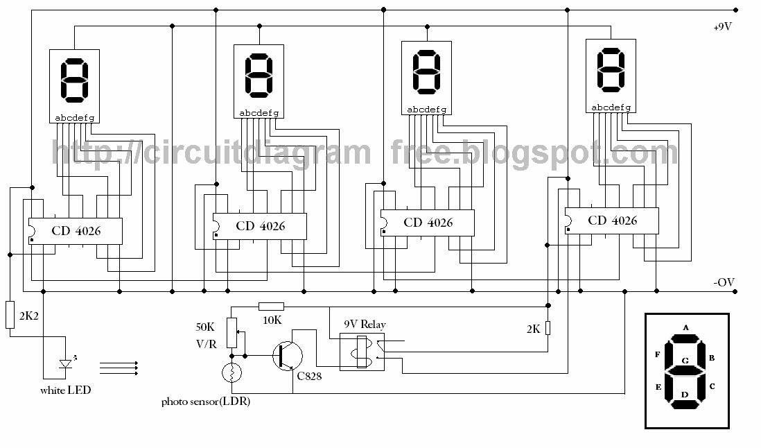 electronic circuit diagrams  4026 ic 7 segment counter