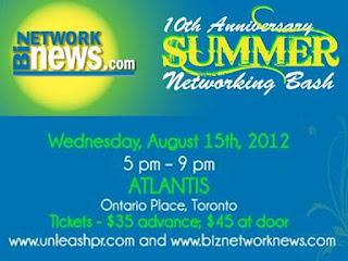 Summer Networking Bash Toronto 2012, by unleashpr.com
