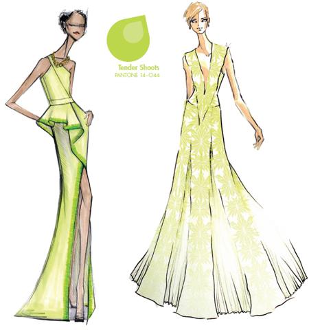 Модерен цвят 2013 жълто-зелено
