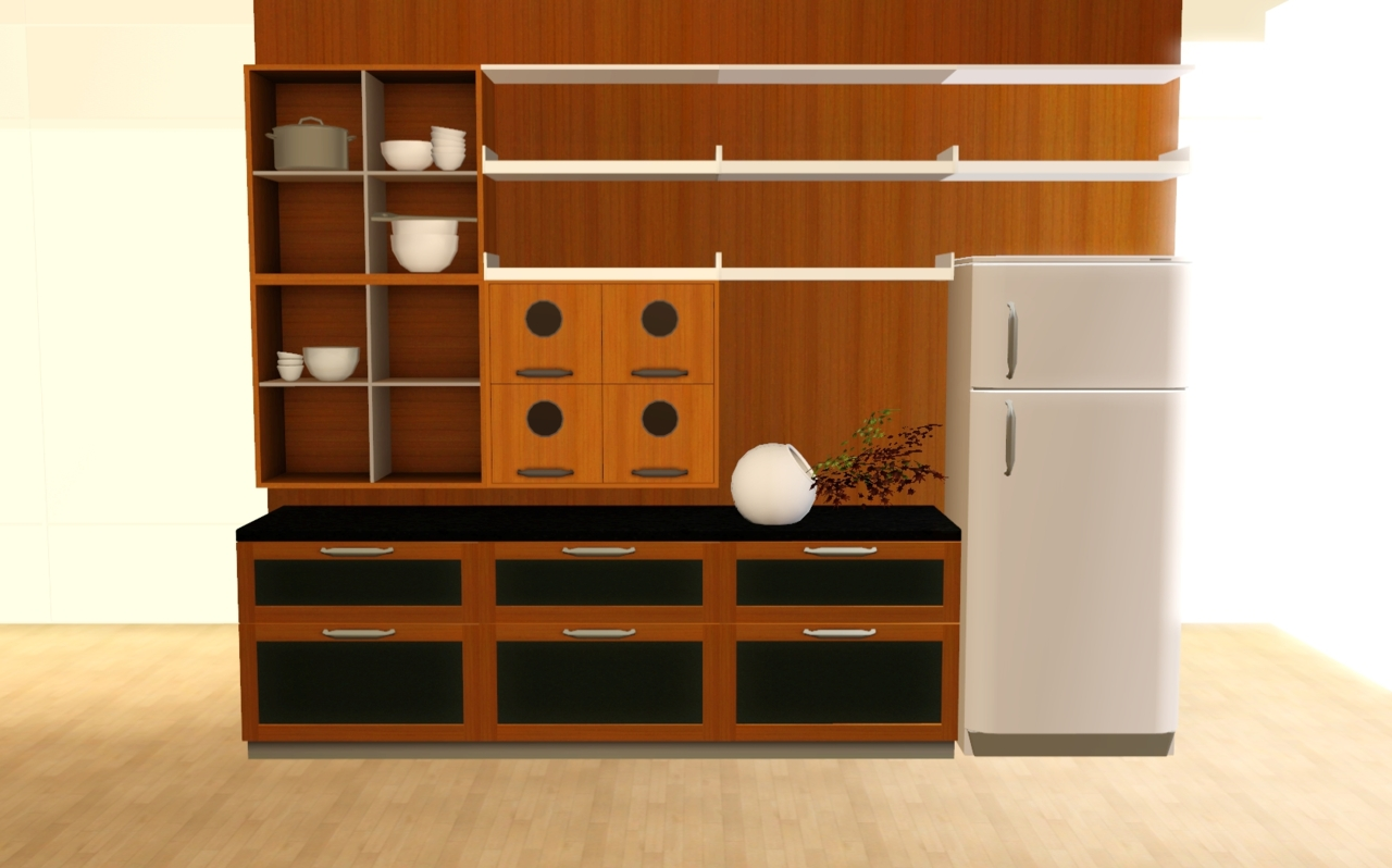 My sims 3 blog updated mono kitchen set by zveki for Modern kitchen sims 3
