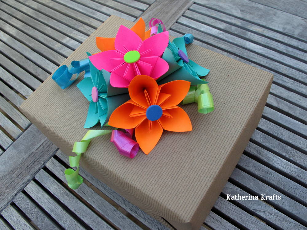 Upcycled Origami Flower Gift Bow