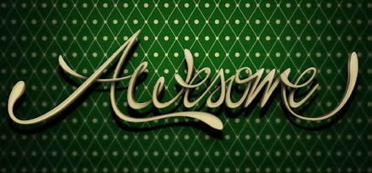 "Create ""Awesome"" 3D Style Lettering in Photoshop"
