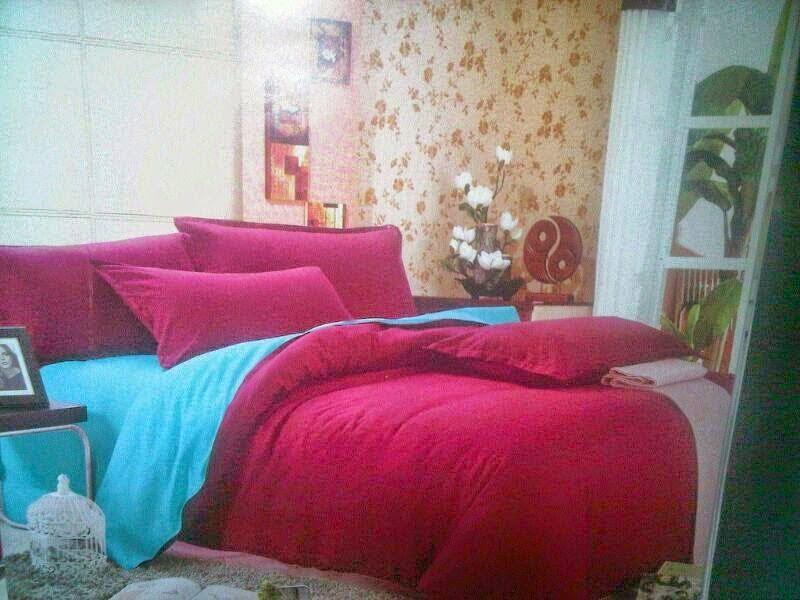 SET CADAR DOUBLE PLAIN DENGAN COMFORTER HANYA RM220