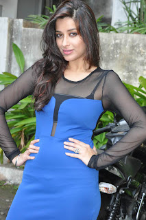 Madhurima Spotted in Transparent Top Spicy Blue Shorts at Shadow movie launch