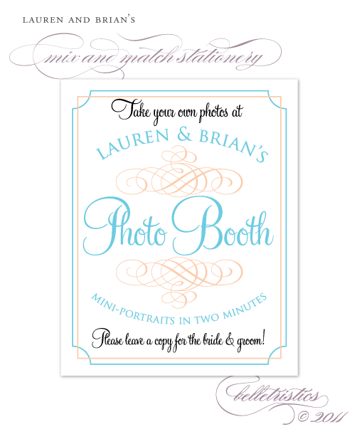 mix and match photo booth sign printable diy