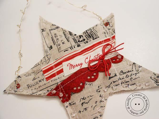 Molto Hobby di stoffa by Hdc: Una stella per l'albero di Natale QQ79