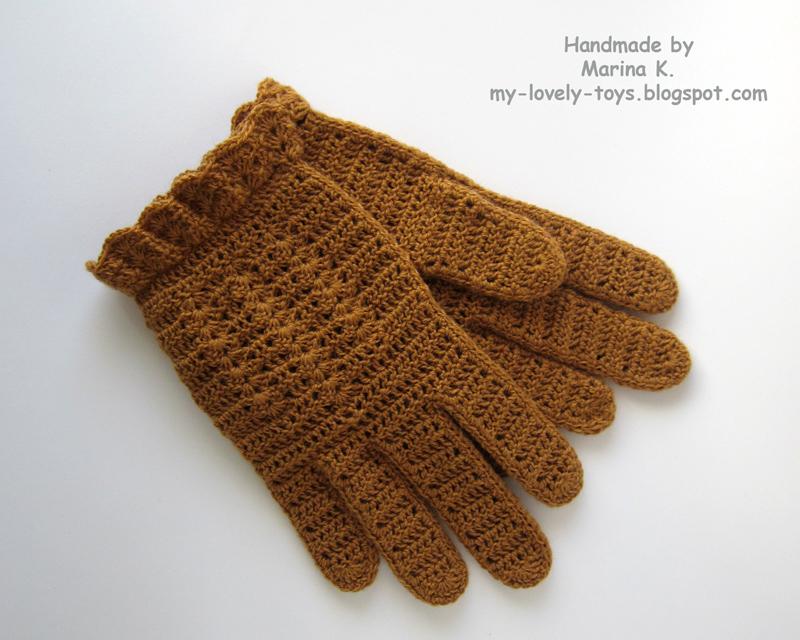МК Вязание перчаток крючком