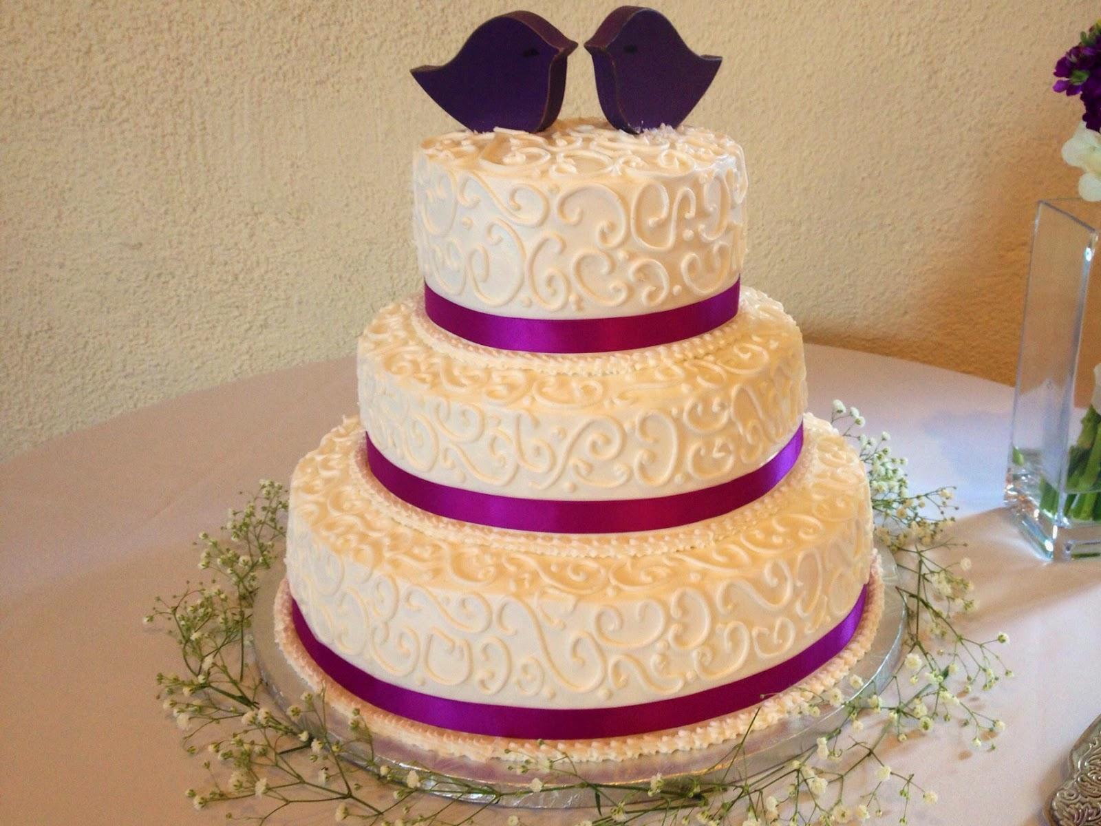 Catering With Teatime Delicacies At Old Town Hall Fairfax Va Satin Ribbon Wedding Cake