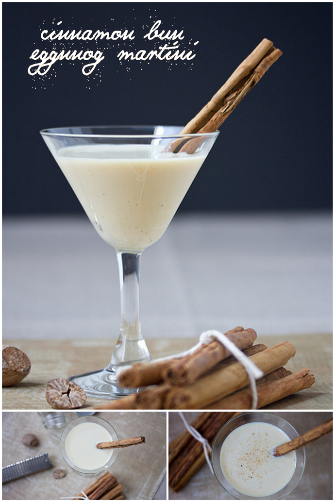 {6 Day of Christmas} Cinnamon Bun Eggnog Martini