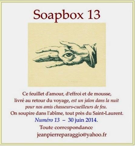 SOAPBOX N°13, FEUILLET de l'UMBO – 30 JUIN 2014, ART & POÉSIE