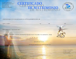 Certificado de Matrimonios Junto al Mar