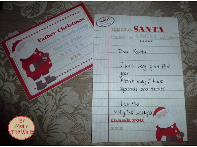 Molly The Wallys' Dear Santa Letter.
