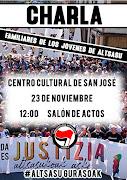 CHARLA: FAMILIARES DE LOS JÓVENES DE ALTSASU