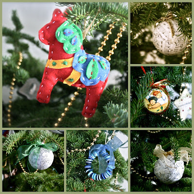 Dala Horse Ornament Music Ornament Button Wreath