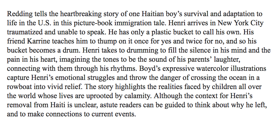 A beautiful review from Booklist