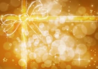 Glitter birthday wrap