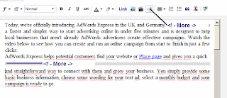 Guide automatically inserted Adsense ads into the mid posts for blogger