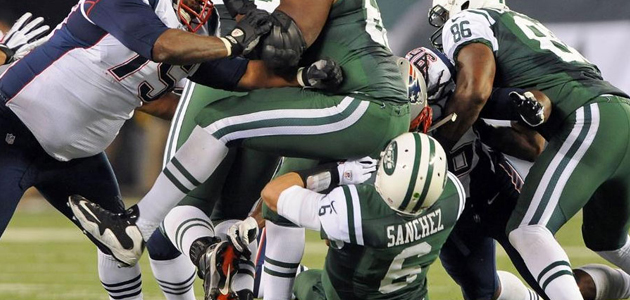 Butt Fumble de Mark Sanchez é analisado pelo Sports Science