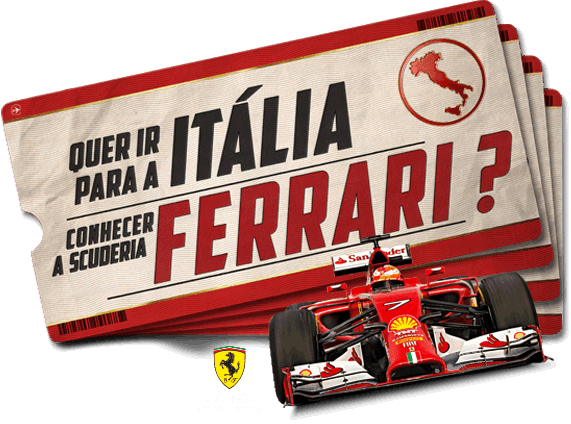 """Promoção TNT - """"Quer Ir Para A Itália Conhecer A Scuderia Ferrari?"""""""