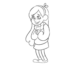 #3 Mabel Pines Coloring Page