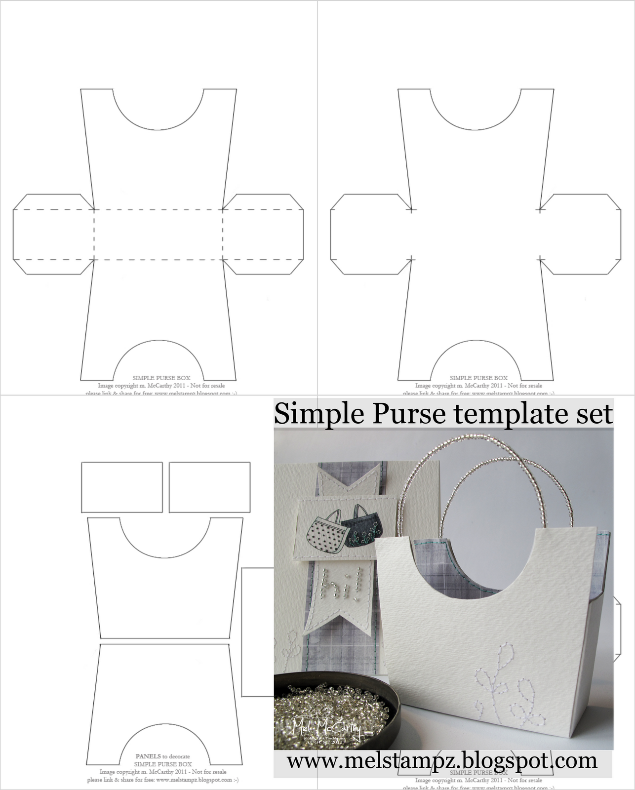 Mel Stampz New simple purse box Templates – Template Box Free Templates