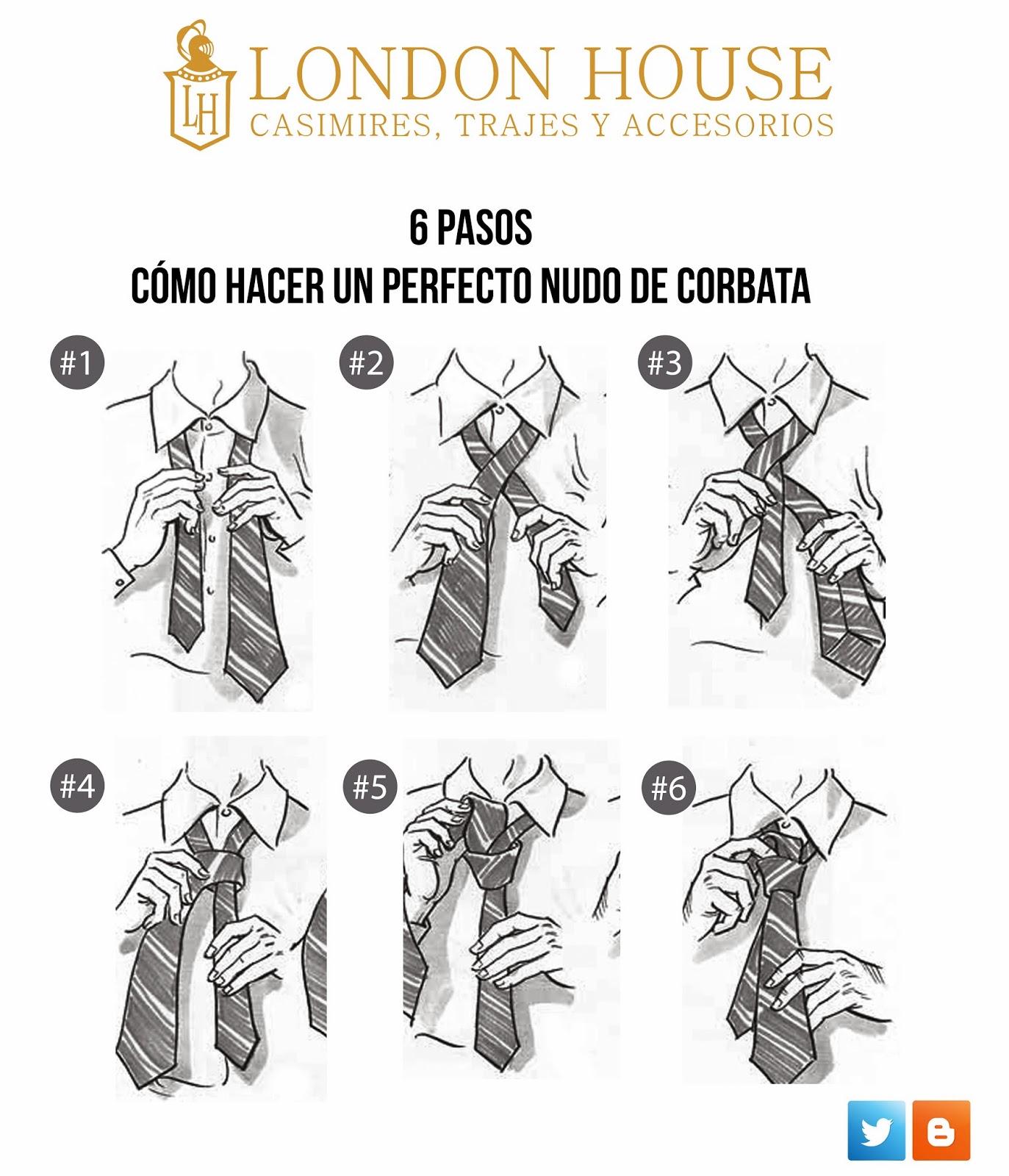 Trajes de novio y ternos london house 6 pasos de c mo for Pasos para hacer nudo de corbata