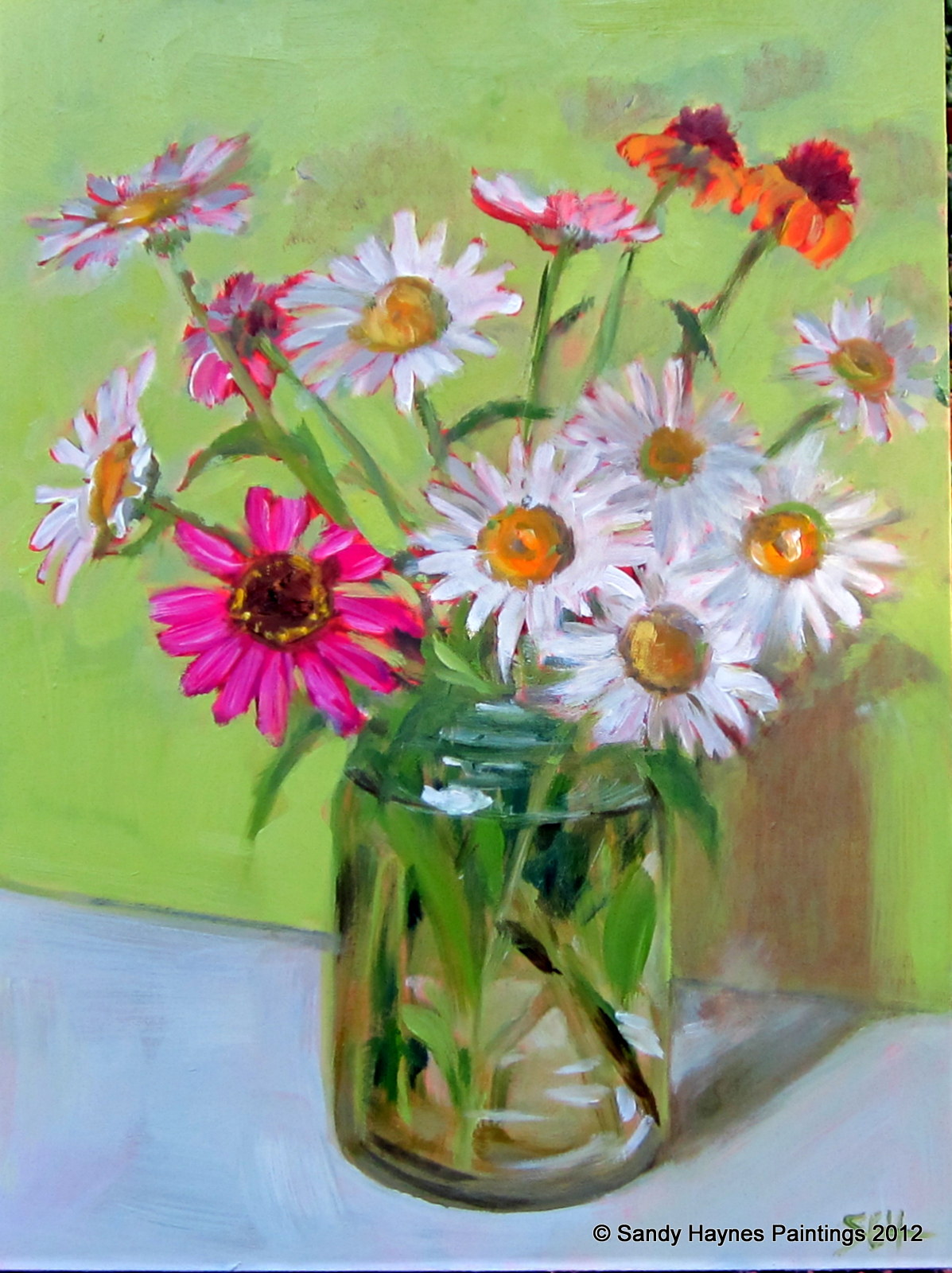 Sandy Graeser Haynes Paintings Last Of The Daisies