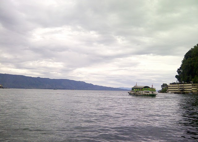 Danau Toba view from the pier