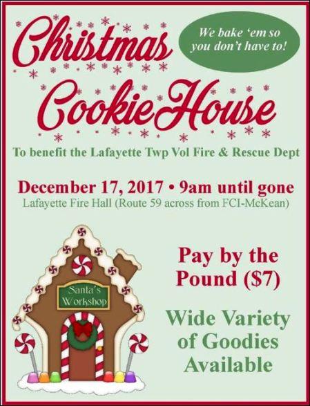12-17 Christmas Cookies, Lafayette VFD