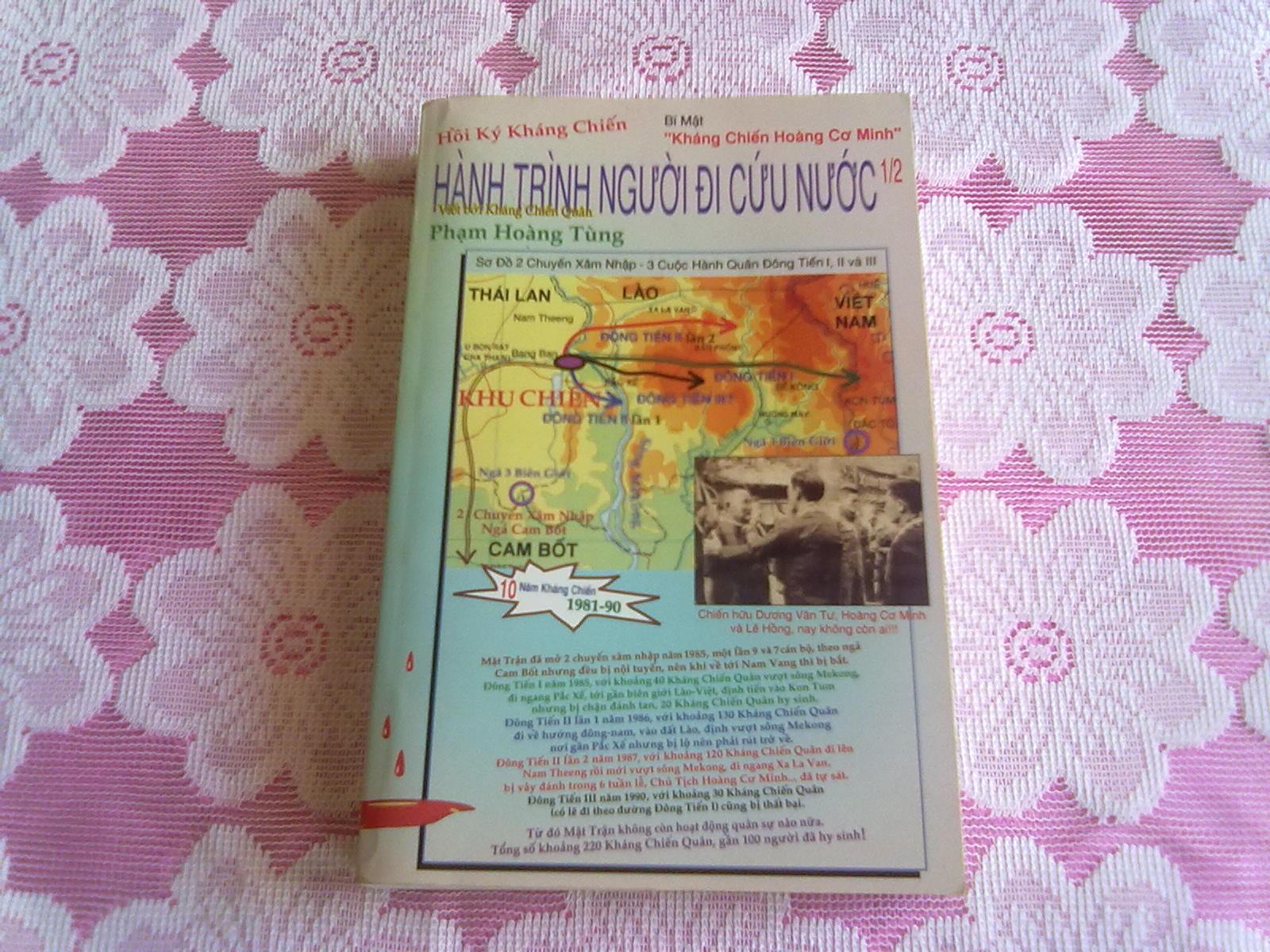 Hình Bìa Trước Quyển 1 & Hồi Ký Hành Trình NgườI Đi Cứu Nước